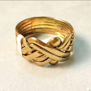 9 Ct Gold Puzzle Ring