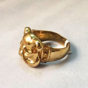 9 Ct Bulldog Head Ring