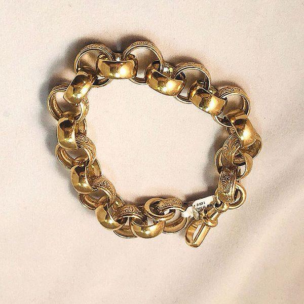 9ct Gold Belcher Bracelet