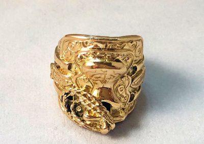 9 Ct Gold Saddle Ring