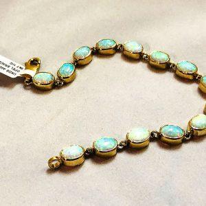 9 Ct Gold Opal Bracelet