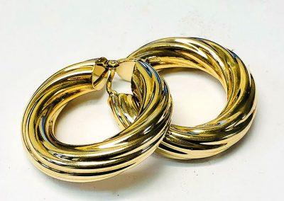 9 Ct Gold Hoop Earrings