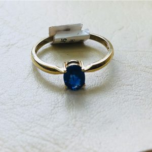 9 Ct Yellow Gold Sapphire Ring