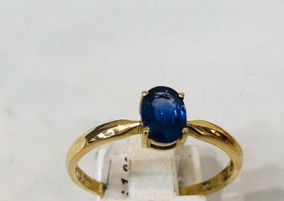 9 Ct Yellow Gold Sapphire Ring