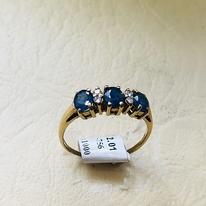 e1810b4af 9ct Tanzanite and Diamond Half Eternity Ring | Doncaster Jewellers