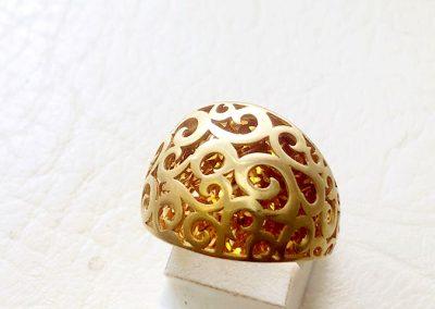 gold designer ring