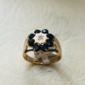 9ct Sapphire cluster ring