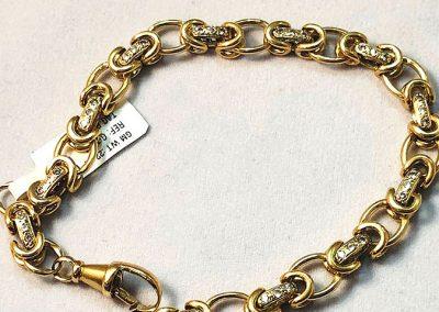 Cz Gold Belcher Bracelet