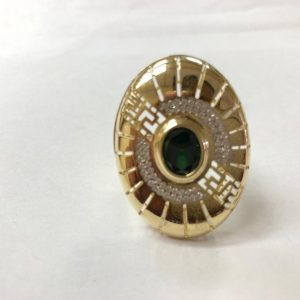 14ct Green Stone Ring