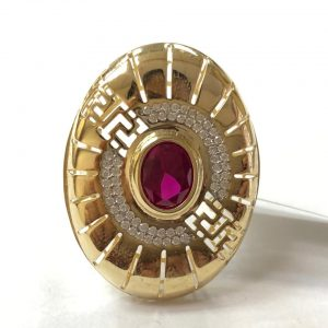 14ct red stone ring